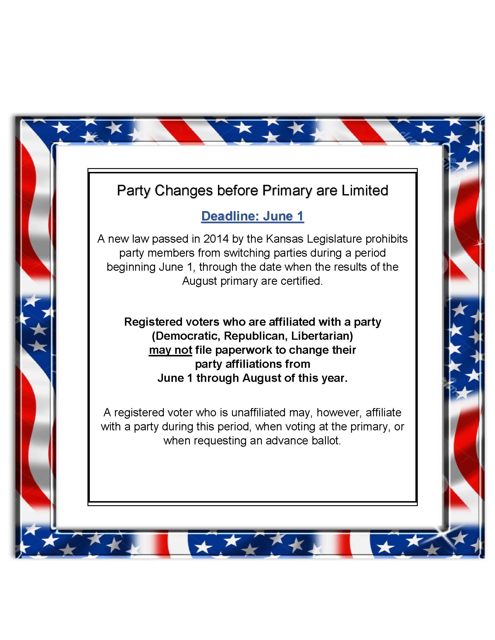 Party Changes before Primary are Limited (003)